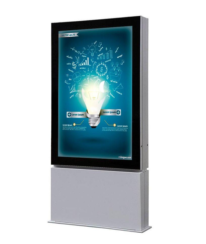 Venkovní obustranný LED totem na plakát 800x1200mm A-Z Reklama CZ