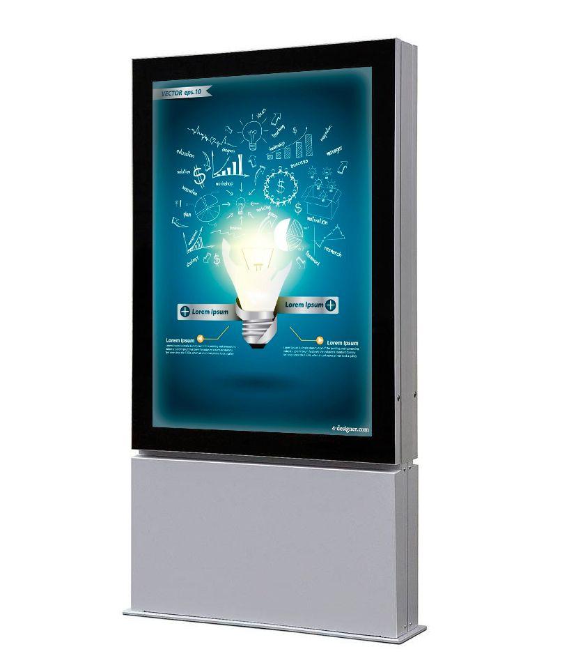 Venkovní obustranný LED totem na plakát A0 A-Z Reklama CZ