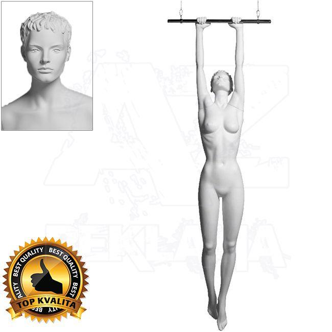 Dámská figurína Sport Akrobatka s prolisovanými vlasy - Bílá A-Z Reklama CZ