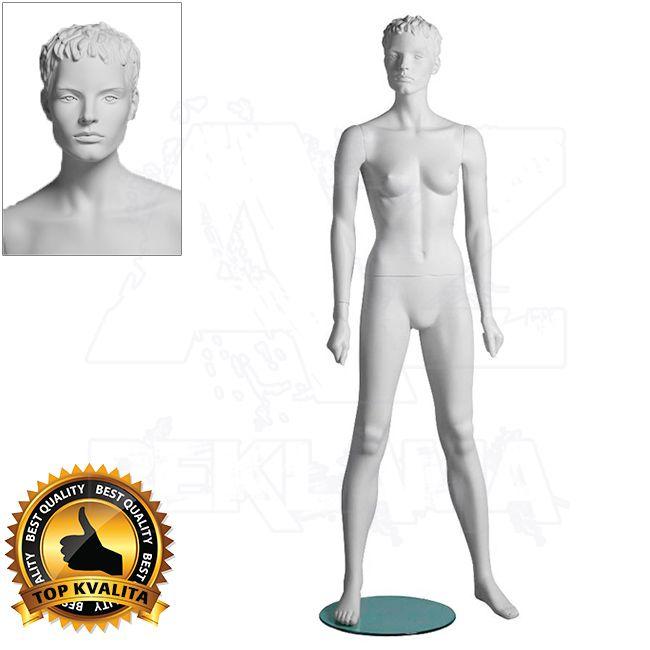 Dámská figurína Sport Atletka s prolisovanými vlasy - Bílá A-Z Reklama CZ