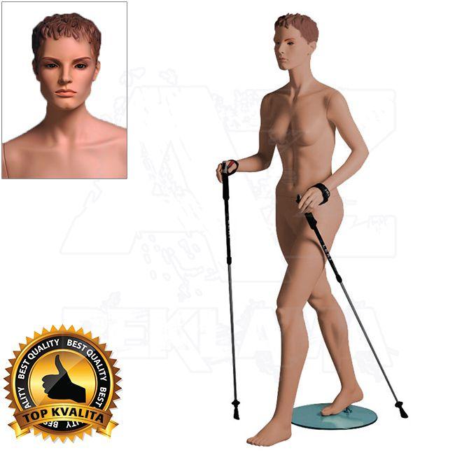 Dámská figurína Sport Chodkyně s prolisovanými vlasy - Tělová A-Z Reklama CZ