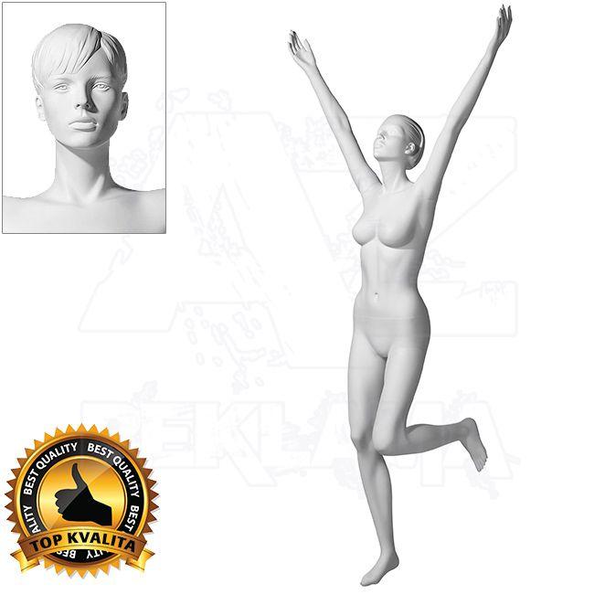 Dámská figurína Sport Vítězka 2 s prolisovanými vlasy - Bílá A-Z Reklama CZ