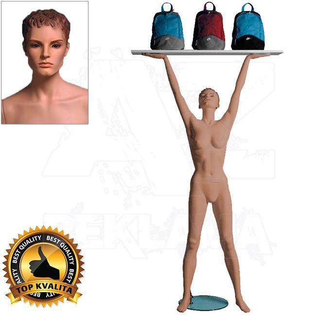 Dámská figurína Sport Zvedající s prolisovanými vlasy - Tělová A-Z Reklama CZ