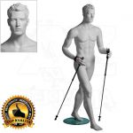 Pánská figurína Sport Chodec - Bílá