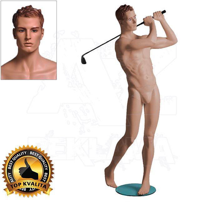 Pánská figurína Sport Golfista s prolisovanými vlasy - Tělová