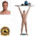 Pánská figurína Sport Zvedající - Tělová