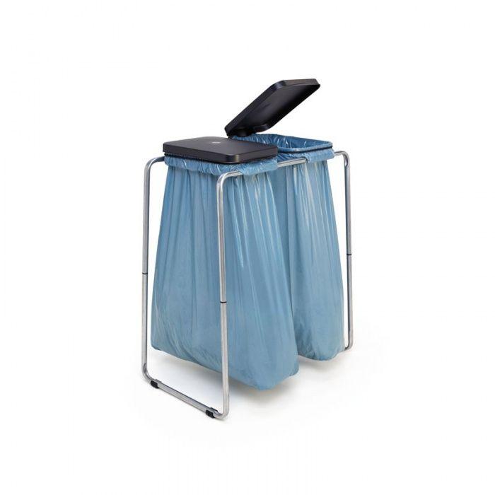 Přenosný stojící stojan na dva odpadkové pytle 70/120l