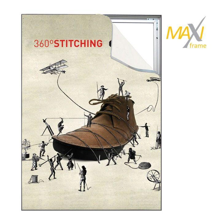 Napínací textilní nástěnný rám 150x300 cm profil 34 mm A-Z Reklama CZ