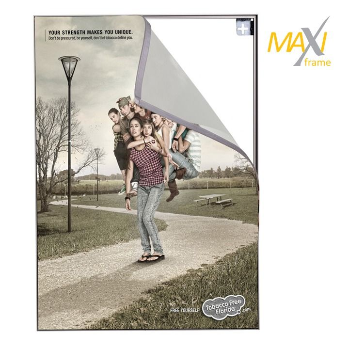 Napínací textilní nástěnný rám B0 profil 32 mm A-Z Reklama CZ