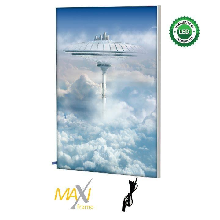 Napínací textilní nástěnný světelný rám A2 profil 24 mm A-Z Reklama CZ
