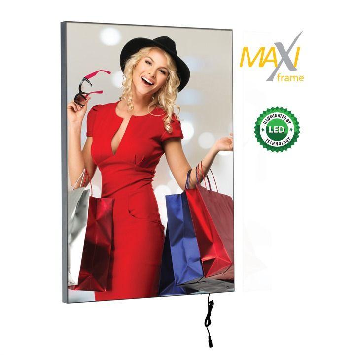 Napínací textilní nástěnný světelný rám B0 profil 34 mm A-Z Reklama CZ