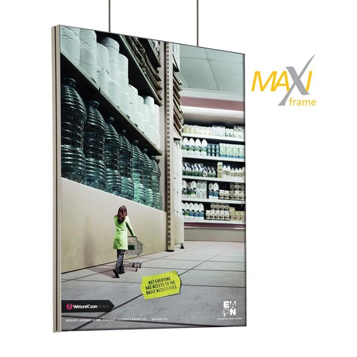 Napínací textilní oboustranný rám 100x200 cm profil 45 mm A-Z Reklama CZ
