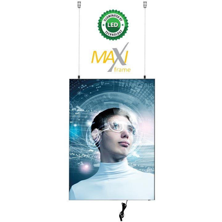 Napínací textilní oboustranný světelný rám A4 profil 50 mm A-Z Reklama CZ