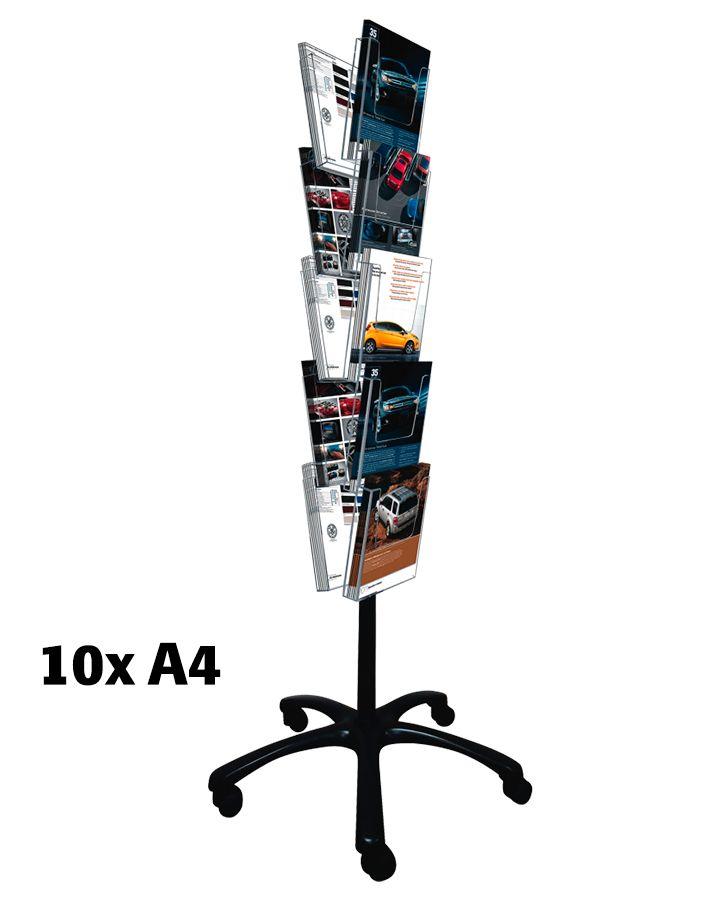 Pojízdný Multiside 10x A4 - Černý