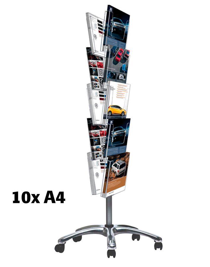Pojízdný Multiside 10x A4 - Stříbrný