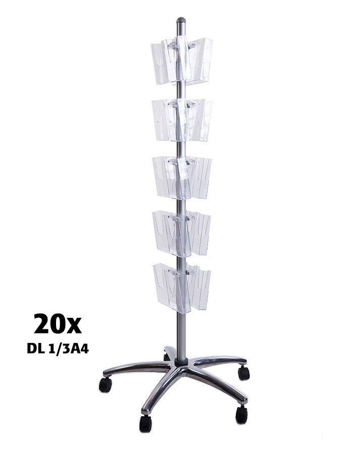 Pojízdný Multiside 20x DL - Stříbrný