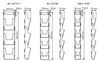 Přenosný nástěnný set zásobníků na letáky 3x A4 A-Z Reklama CZ