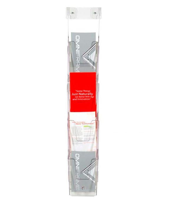 Přenosný nástěnný set zásobníků na letáky 4x DL 1/3A4 A-Z Reklama CZ