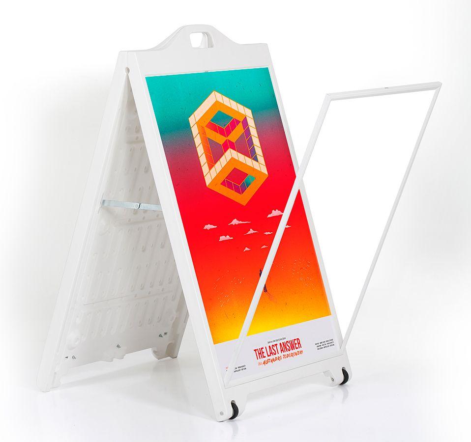 Áčko na plakát Street SignPro bez krycí fólie - Bílé
