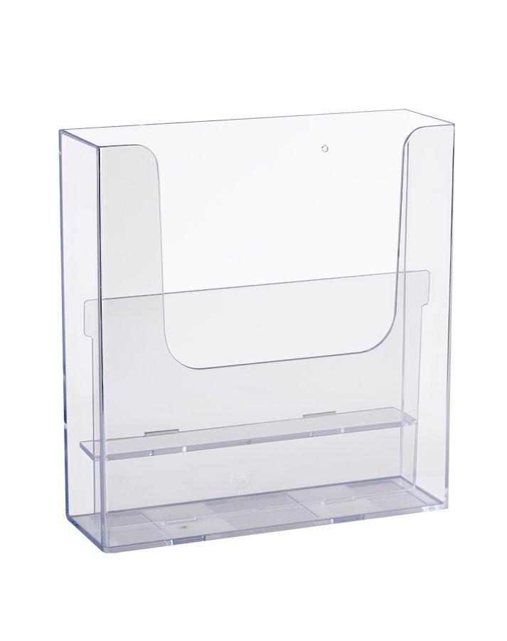 Plastový zásobník 2x A4 nad sebou, na zeď s odnimatelným vnitřkem pro variantu extra kapacity 1xA4 A-Z Reklama CZ