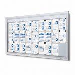 SCT PREMIUM Venkovní prosvětlená LED vitrína 27xA4 A-Z Reklama CZ