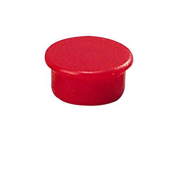 Dahle kancelářský magnet 13 mm - Červený - Balení 50 ks