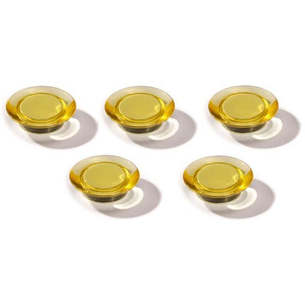 Dahle magnet Ozdobný 30 mm - Žlutý - Balení 50 ks