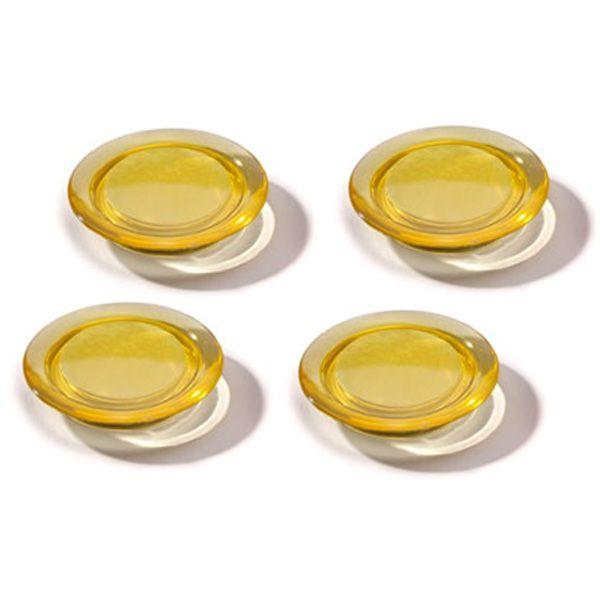 Dahle magnet Ozdobný 40 mm - Žlutý - Balení 40 ks