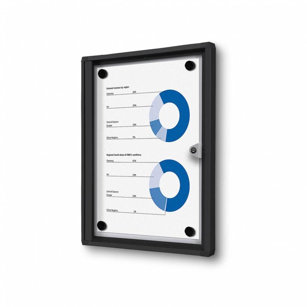 Informační Vitrína interiérová - 1xA4 - Černý rám A-Z Reklama CZ