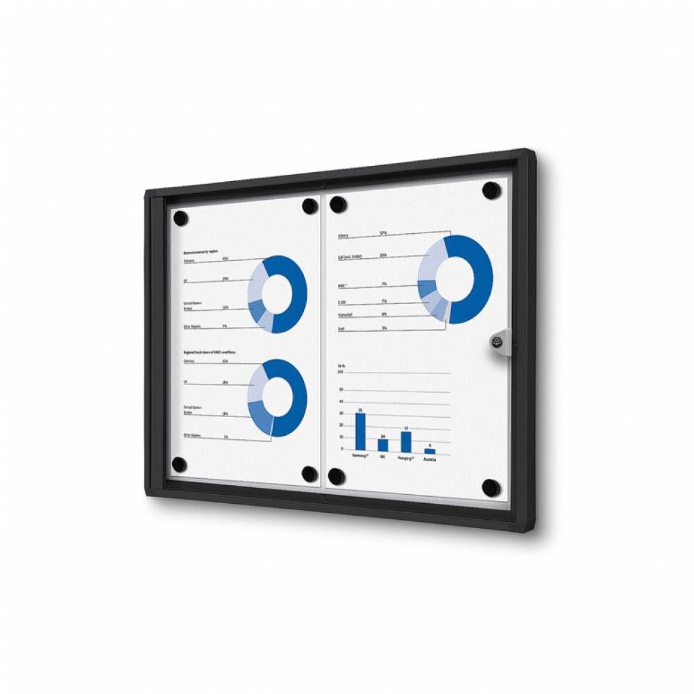 Informační Vitrína interiérová - 2xA4 - Černý rám A-Z Reklama CZ