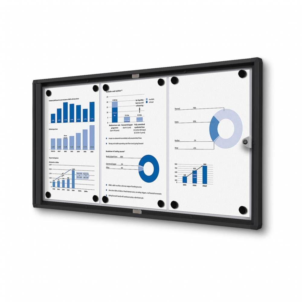 Informační Vitrína interiérová - 3xA4 - Černý rám A-Z Reklama CZ