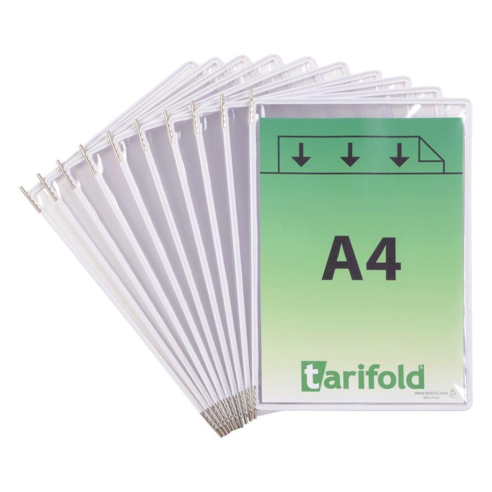 Kapsy Tarifold A4 - sada 10 ks - bílé lemování kapsy