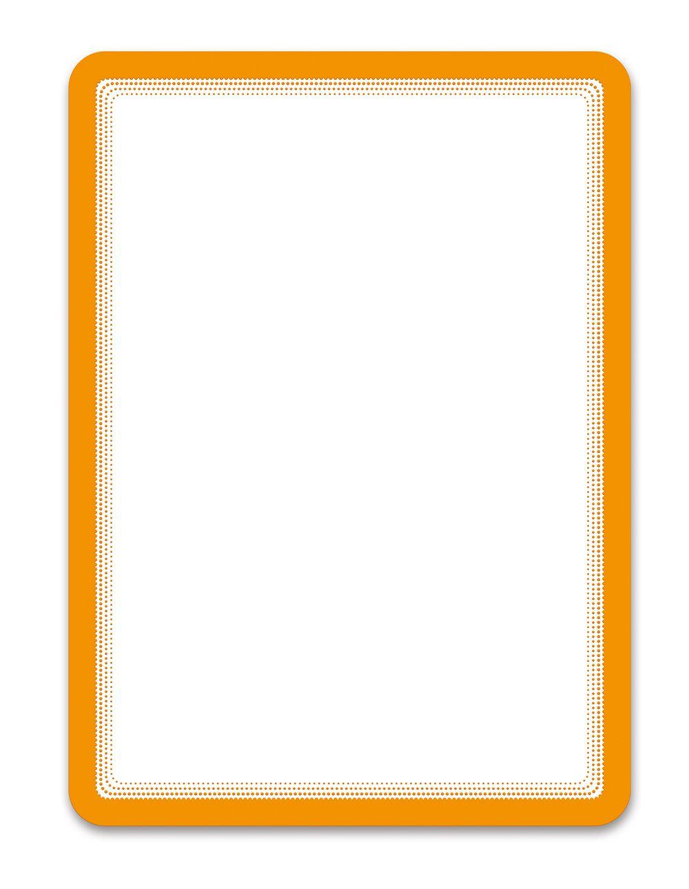 Samolepící kapsa A4 (sada 2ks), nepermanentní, Oranžová TARIFOLD
