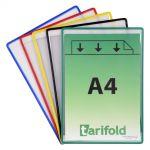 Samolepící kapsy Tarifold s rámečkem - 5 ks - mix barev