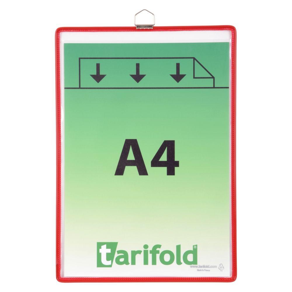 Závěsná kapsa Tarifold A4 na výšku s očkem - Červená