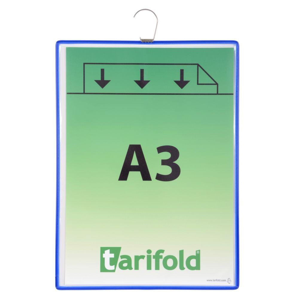 Závěsná kapsa Tarifold s hákem A3 na výšku, modré - 5 ks
