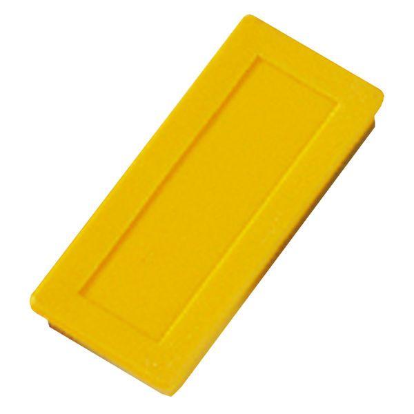 Dahle kancelářský magnet 23x50 mm - Žlutý - Balení 30 ks