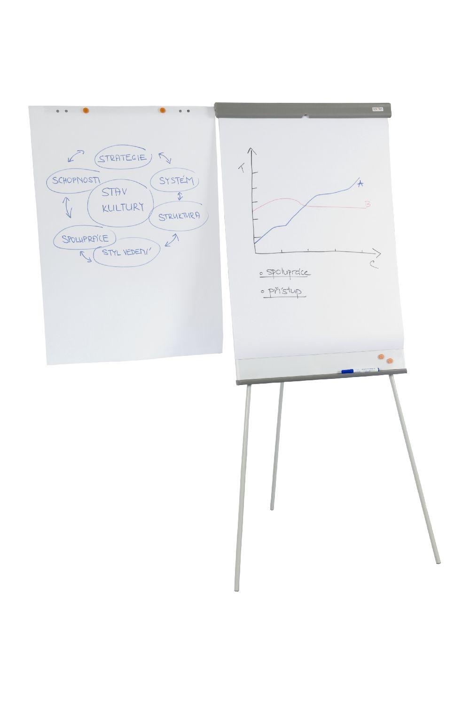 Flipchart kombi, 103x70 cm, výška až 190 cm, Bílý
