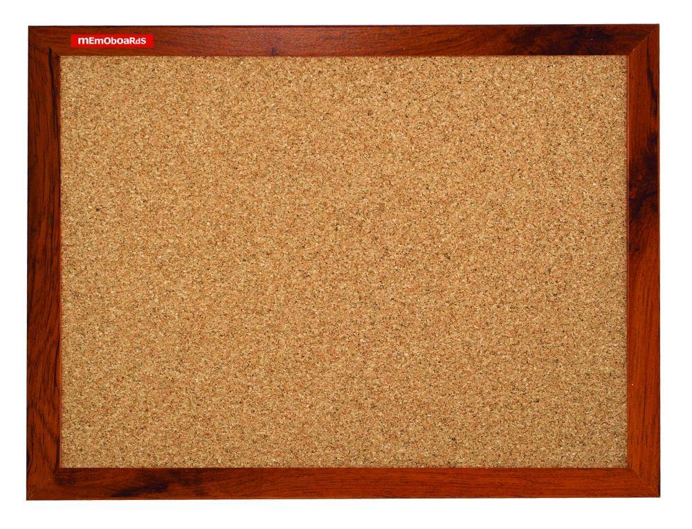 Korková tabule, 120x90 cm, MDF rám dub, tmavě hnědý