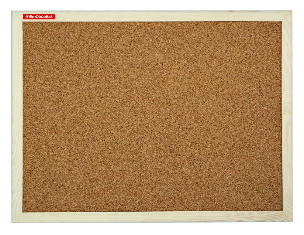 Korková tabule, 150x100 cm, dřevěný rám, Přírodní Memoboards
