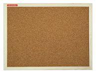 Korková tabule 80x50, dřevěný rám, Přírodní