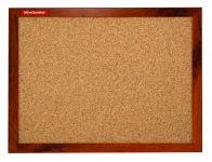 Korková tabule 90x60, MDF rám dub, tmavě hnědý