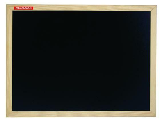 Křídová tabule černá, 80x60 cm, dřevěný rám borovice, přírodní