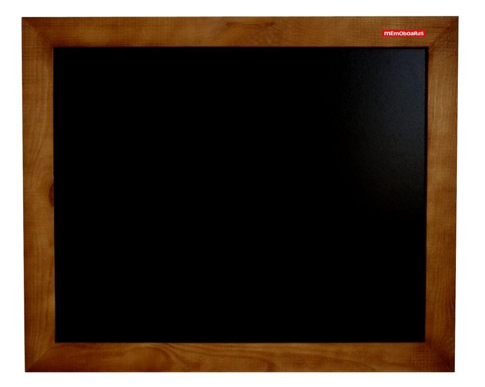 Křídová tabule černá, 90x60 cm, dřevěný rám, hnědý