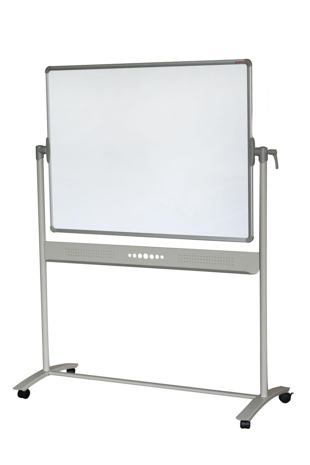 Magnetická oboustranná tabule, 90x120 otáčecí, bílá