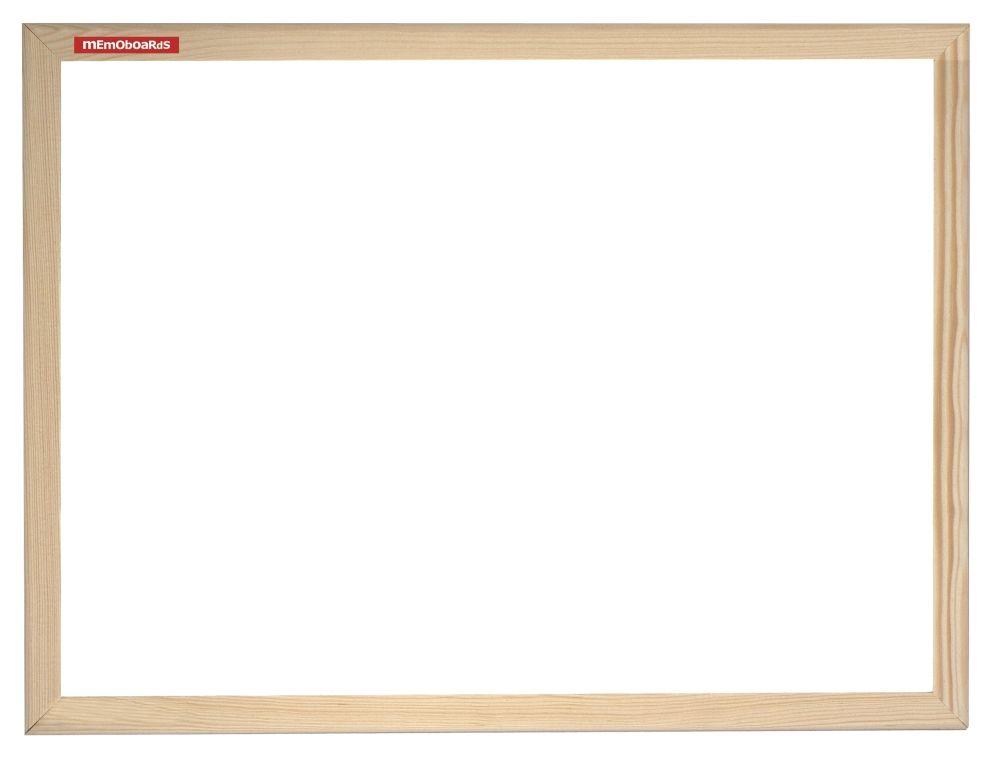 Magnetická tabule, 100x100 cm, dřevěný rám borovice, Přírodní Memoboards