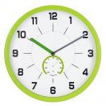 Nástěnné hodiny, 30 cm, s teploměrem, zelené