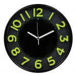 Nástěnné hodiny 3D, 30 cm, zeleno-černé