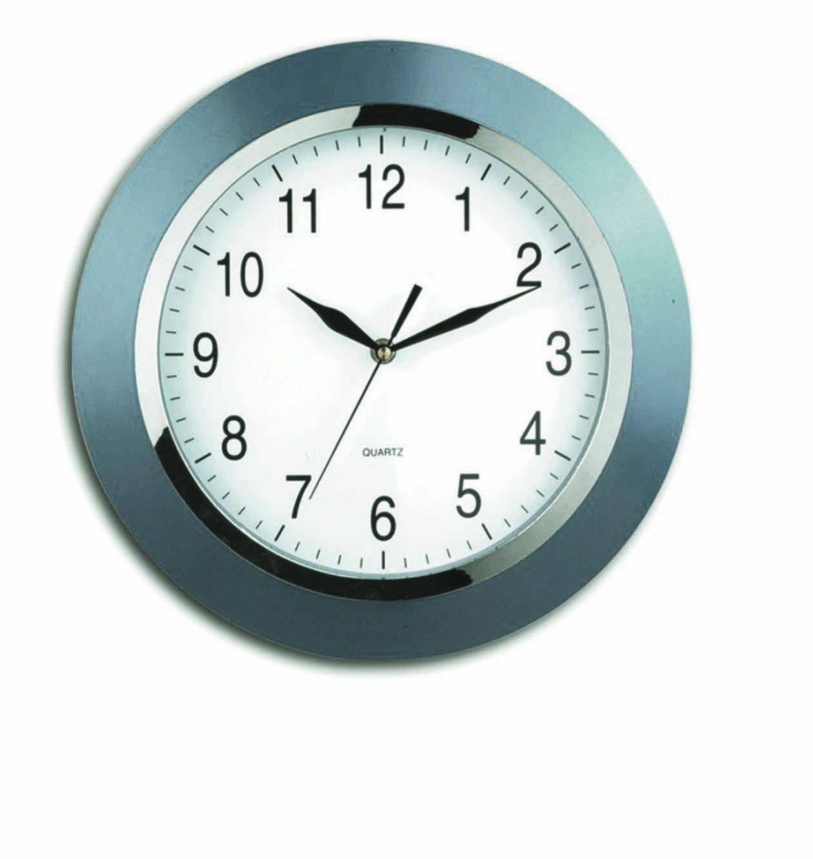 Nástěnné hodiny Berlin, 33 cm, stříbrné