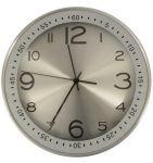 Nástěnné hodiny Modern, 30 cm, stříbrné